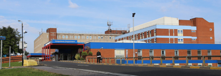 Exterior of University Hospital of Hartlepool