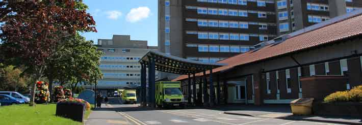 Exterior of University Hospital of North Tees