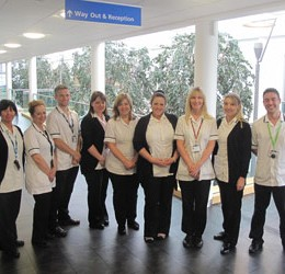The Audiology team at the one life centre in Hartlepool