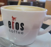 Eros coffee cup in Cafe Wilbers