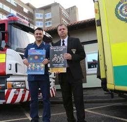 Head of community safety Dave Turton from Cleveland Fire Brigade and A&E Matron Stuart Harper