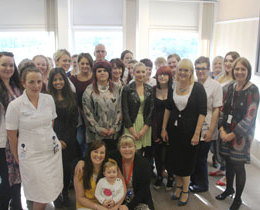 Healthcare apprentices celebrate having completed an Advanced Diploma in Clinical Health Care Support