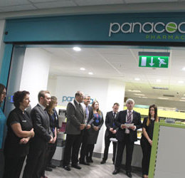 Trust staff celebrate the official opening of Panacea Pharmacy