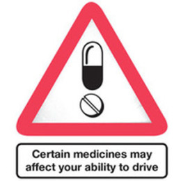 Certain medicines may affect your ability to drive