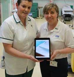 Staff show of the new ipad