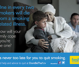 Smoking campaign: It's never too late for you to quit smoking