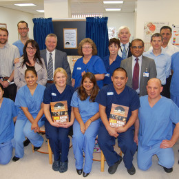 Endoscopy staff celebrate funds raised through Music V Cancer charity