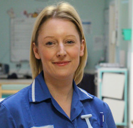 Infection prevention and control nurse Emma Davies