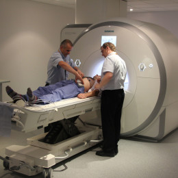 Patient receiving a cardiac scan at the Trust