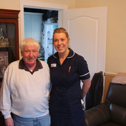 Edward Alton with Community rapid response nurse Katy Ingledew