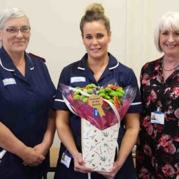 Lyndsey receives her star of the month award