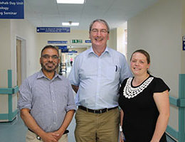 Orthopedic consultant Neil Bayliss with some of the Outpatient Parenteral Antibiotic Therapy (OPAT) team