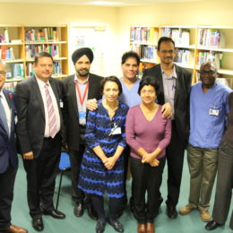 Medical director Deepak Dwarakanath (far left) met with some of the training leads to congratulate them on this fantastic achievement.