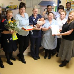 Children's ward receive latest team of the month award