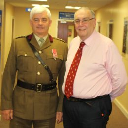 Deputy medical director Chris Tulloch (pictured, right, with trust chief executive Alan Foster who is honorary colonel of the 201 Field Hospital)