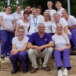Colleagues who have been helping to improve healthcare in Battambang Referral Hospital in Cambodia.