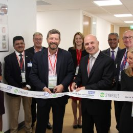 Ribbon cutting event at the Synexus centre