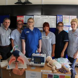 Nursing and midwifery staff all set up and ready to talk to newly qualified nurses about career opportunities