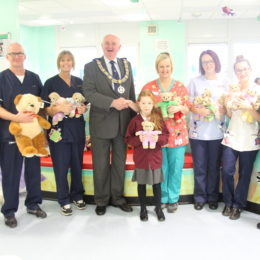 Emergency paediatric staff take delivery of the bears