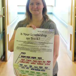 Carole promotes the leadership track training available at the Trust