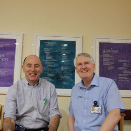 Chaplain Robert and Palliative care nurse Mel McEvoy