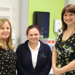 Claire with some of the stop smoking advisors who helps support her quitting