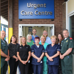 Urgent care service team, who won the prestigious NHS 70 award at this years parliamentary awards