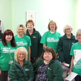 Cancer information team and volunteers