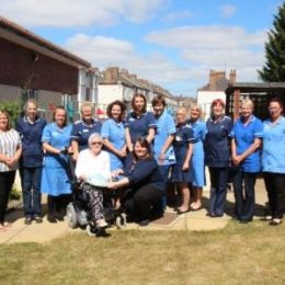 The Beeches Care Home, on Green Lane celebrating the NHS' 70th year