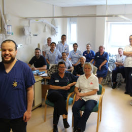 Mo Helmy with colleagues - he has been providing excellent in-house training for collegaues