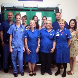 Some of the staff involved in patient recruitment to research trials