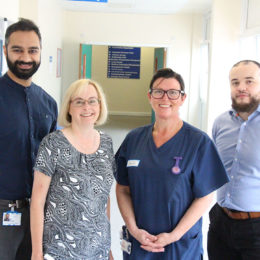 Staff from departments across the Trust who have been instrumental in improving joint replacement for patients