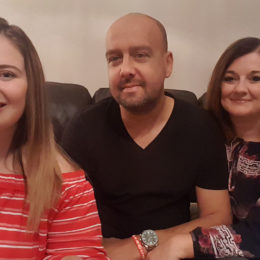 Nurse Tracy with Husband Adrian and their daughter.