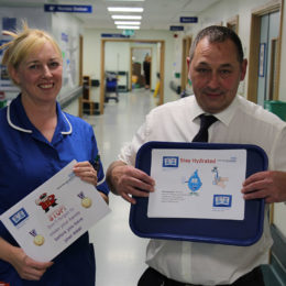 Infection prevention and control Nurse Liz (Left) and Head of Catering Colin (right)