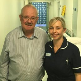Tom with staff nurse from the Trust