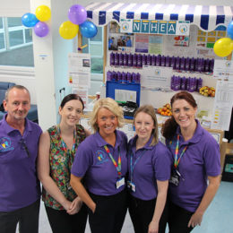 Some of the education team instrumental in providing care home training