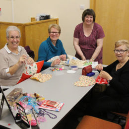 Some of the lovely ladies at craft and chat