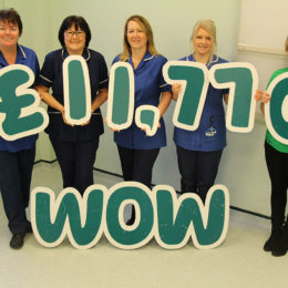The team managed to raise a whopping £11,770