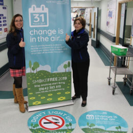 Stop smoking cessation team promote 100-day countdown launch