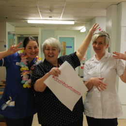 Staff from MRDU in Hartlepool get behind the smear campaign