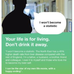 Alcohol awareness campaign: Your life is for living. Don't drink it away.