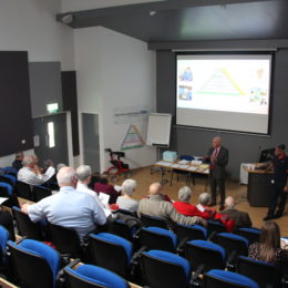 Chairman Paul Garvin introduces the latest membership event