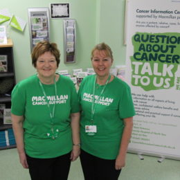 Volunteer Margaret Lee and Colleague from the Trust Cancer Information Centre