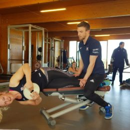 Trust physio supporting athletes training