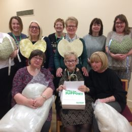 Cancer support team at their craft and chat event
