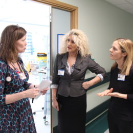Chief Executive Julie Gillon with Head Of Nursing for Responsive Care Emma Roberts and Consultant Dawn Ashley