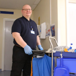 Jreffrey in his new role as a domestic at the Trust