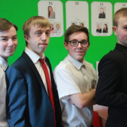 Some of the youngsters and potential staff of the future from Catcote Academy in Hartlepool