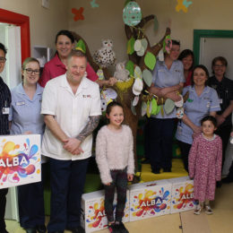 Tracerco kindly donate TVs for some of our youngest poorly patients to use