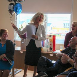 Sue and colleagues share a laugh or two reminiscing about her time at the NHS